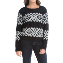 August Silk Aztec Sweater (For Women) in Black/White - Closeouts