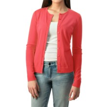 August Silk Button Cardigan Sweater - Silk Blend (For Women) in Charisma Coral - Closeouts