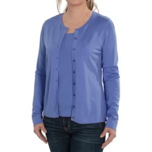 August Silk Button Front Cardigan Sweater (For Women) in Veranda Blue - Closeouts