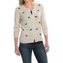 August Silk Cardigan Sweater (For Women) in Ash/Black - Closeouts