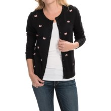 August Silk Cardigan Sweater (For Women) in Black/Blush - Closeouts