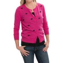 August Silk Cardigan Sweater (For Women) in Pink/Black - Closeouts
