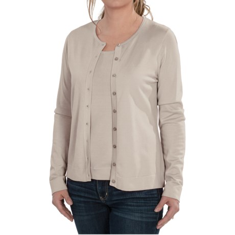 456516a1a2979 August Silk Cardigan Sweater - Silk Blend (For Women) in Ash Blonde
