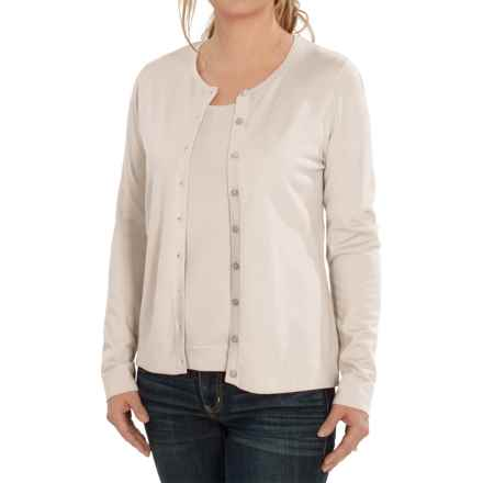 August Silk Cardigan Sweater - Silk Blend (For Women) in Bavarian Cream - Closeouts