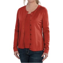 August Silk Cardigan Sweater - Silk Blend (For Women) in Paprika - Closeouts
