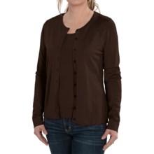 August Silk Cardigan Sweater - Silk Blend (For Women) in Semi Sweet - Closeouts