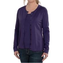 August Silk Cardigan Sweater - Silk Blend (For Women) in Twilight Purple - Closeouts