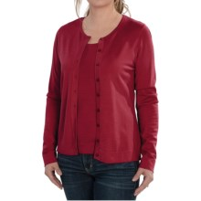 August Silk Cardigan Sweater - Silk Blend (For Women) in Uno Red - Closeouts