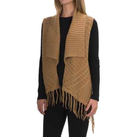 August Silk Completer Novelty Sweater - Sleeveless (For Women) in Camel Toffee - Overstock