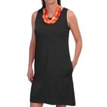 August Silk Cotton Dress - Sleeveless (For Women) in Black - Closeouts