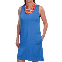 August Silk Cotton Dress - Sleeveless (For Women) in Moody Blue - Closeouts
