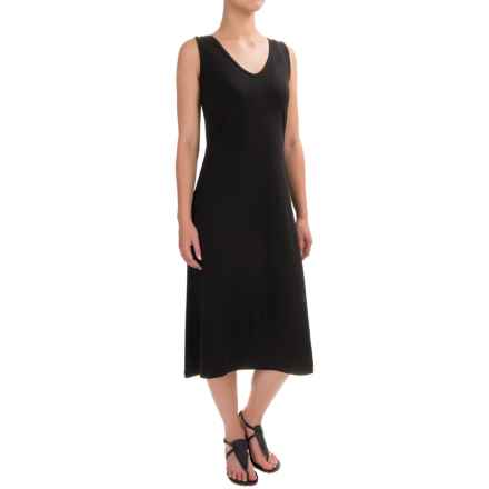 August Silk Crisscross-Back Dress - Sleeveless (For Women) in Black - Closeouts