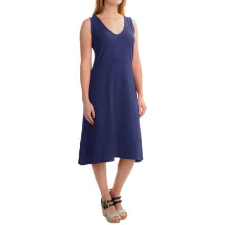 August Silk Crisscross-Back Dress - Sleeveless (For Women) in Parisian Navy - Closeouts