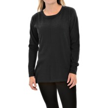 August Silk Droptail Sweater (For Women) in Black - Closeouts