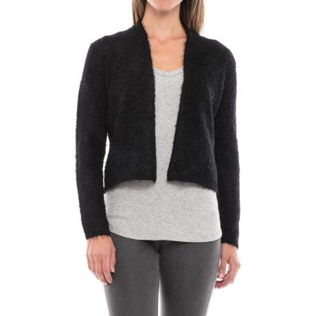 August Silk Feathered Cardigan Sweater (For Women)