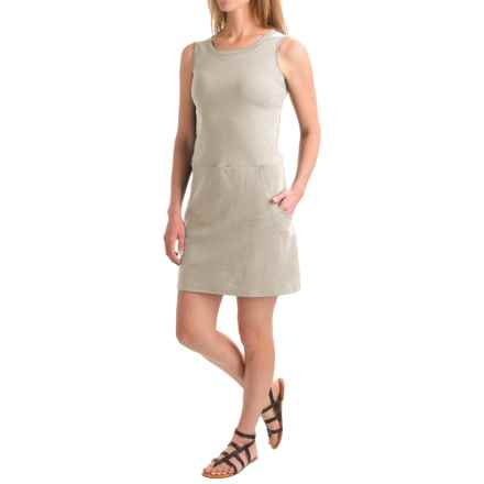 August Silk Flip-Flop Dress - Front Pockets, Sleeveless (For Women) in Grey Heather - Closeouts