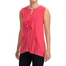 August Silk Georgette Cascade Shirt - Sleeveless (For Women) in Exotic Rose - Closeouts