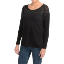 August Silk Illusion Sweater (For Women) in Black - Closeouts