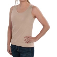 August Silk Knit Sleeveless Top - Silk Blend (For Women) in Ash Blonde - Closeouts