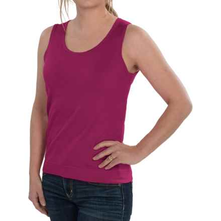 August Silk Knit Sleeveless Top - Silk Blend (For Women) in Brandied Pink - Closeouts