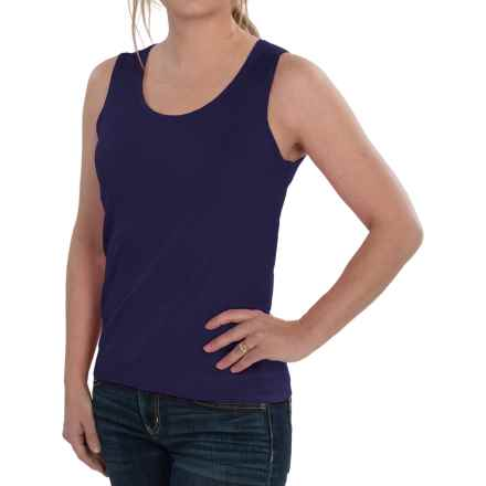 August Silk Knit Sleeveless Top - Silk Blend (For Women) in Evening Blue - Closeouts