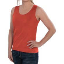 August Silk Knit Sleeveless Top - Silk Blend (For Women) in Paprika - Closeouts