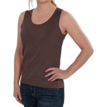 August Silk Knit Sleeveless Top - Silk Blend (For Women) in Semi Sweet - Closeouts