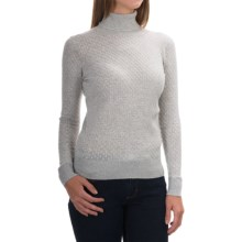 August Silk Mini-Cable Turtleneck - Cotton-Modal, Long Sleeve (For Women) in Starlight Heather - Overstock