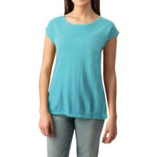 August Silk Pointelle Heavyweight Knit Shirt - Sleeveless (For Women) in Candid Aqua - Closeouts