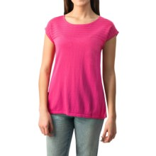 August Silk Pointelle Heavyweight Knit Shirt - Sleeveless (For Women) in Knockout Pink - Closeouts