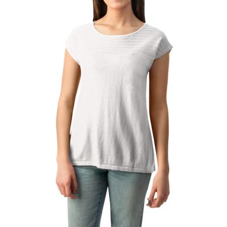 August Silk Pointelle Heavyweight Knit Shirt Sleeveless For Women