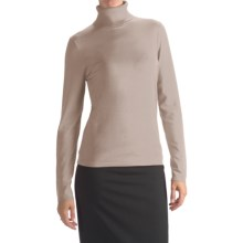 August Silk Rib-Trim Turtleneck Sweater (For Women) in Ash Blonde - Closeouts