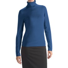 August Silk Rib-Trim Turtleneck Sweater (For Women) in Blue Sapphire - Closeouts