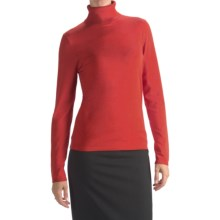 August Silk Rib-Trim Turtleneck Sweater (For Women) in Paprika Red - Closeouts