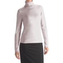 August Silk Rib-Trim Turtleneck Sweater - Silk-Rich (For Women) in 39C Uv White - Closeouts