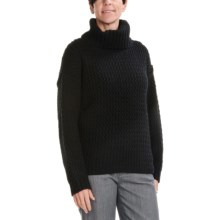 August Silk Rick-Rack Stitch Sweater (For Women) in Black - Closeouts