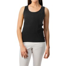 August Silk Shell Tank Top - Viscose-Silk (For Women) in Black - Closeouts