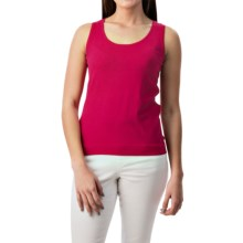 August Silk Shell Tank Top - Viscose-Silk (For Women) in Bright Rose - Closeouts