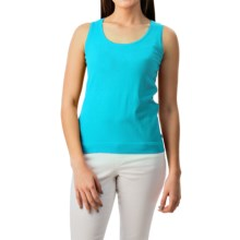 August Silk Shell Tank Top - Viscose-Silk (For Women) in Candid Aqua - Closeouts