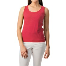 August Silk Shell Tank Top - Viscose-Silk (For Women) in Charisma Coral - Closeouts