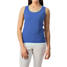 August Silk Shell Tank Top - Viscose-Silk (For Women) in Rolling Sea - Closeouts