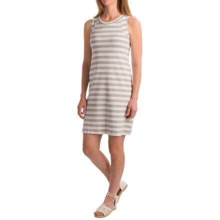 August Silk Striped Flip-Flop Dress - Sleeveless (For Women) in Grey/White - Closeouts