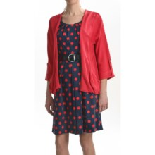 August Silk Tab Cuff Cardigan Sweater (For Women) in Michelle Rose - Closeouts