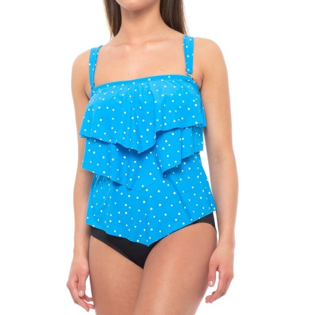 Image of Aura Ruffle Tankini Top - Underwire (For Women)