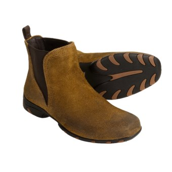 Auri Gigolo Chelsea Boots - Suede (For Men) in Tan Burnished