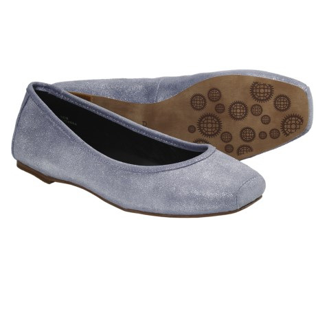 Auri Jamie Ballerina Flats - Leather (For Women) in Lavendar Metallic