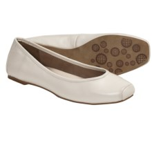 Auri Jamie Ballerina Flats - Leather (For Women) in Winter White - Closeouts