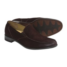 Auri Marcus Venetian Shoes - Leather, Slip-Ons (For Men) in Chocolate Burnished Suede - Closeouts