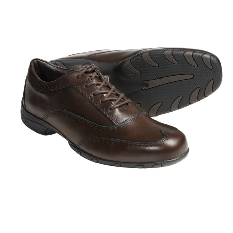 Auri Player Wingtip Oxford Shoes - Supple Calf Leather (For Men) in Brown