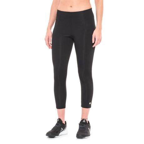 Aurum Mindfulness Crop Leggings (For Women) in Black
